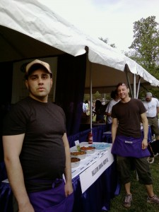 Tariq & Kelly:  they baked samples all week and came out with aprons full of hundreds of treats.